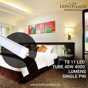 Switch To More Versatile T8 11 LED Tube 40W 4000 Lumens Single Pin 400
