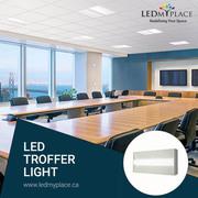 LED troffer light for an everlasting lighting comfort for the office.