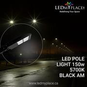 Use Black LED Pole Light 150w to make Nights more Safer