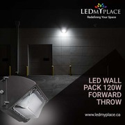 Use Forward- Throw 120w LED Wall Pack Lights For Quicker Installation