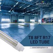 Use Rotatable R17D 8ft 48W LED tubes