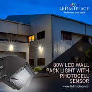 Use DLC Approved 80W LED Wall Pack Lights for Outdoor Lighting