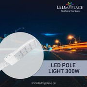 Use 300W LED Pole Lights to illuminate the whole area in Parking lots
