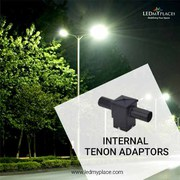 Use Internal Tenon Adaptors with LED Pole or Flood Lights