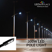 Install Photocell & Motion Sensor 300W LED Pole Lights