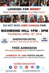 FREE: Richmond Hill Job Fair - April 18th,  2019