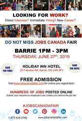 Barrie Job Fair - June 27,  2019
