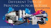 Different Types of Printing Services in North York