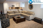 Boring to Beautiful Basement - Contact Royal Home Improvements