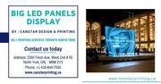 LED Panels Display in North York by Print Shop in North York