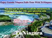 Enjoy Canada Niagara Falls Tour With ToNiagara