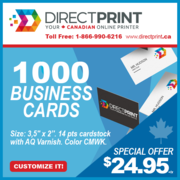 1000 Business Cards 14pts R/V Vanish $24.95!