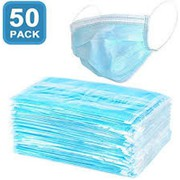 Disposable Face Mask 3- layer,  NON-Woven fabric (50PACK)