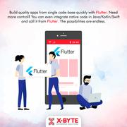 Flutter Mobile App Development Company USA | X-Byte